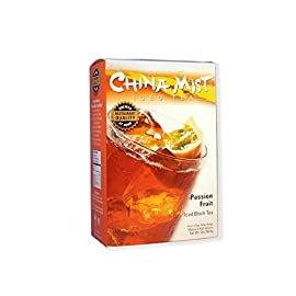 China Mist, Passion Fruit Black Tea Bags for Iced Tea 42 makes 12 half gallons Contains 12 1/2 oz filter bags