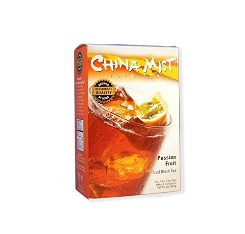 China Mist, Passion Fruit Black Tea Bags for Iced Tea, (3 Pack)