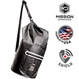 Mission Darkness Dry Shield Faraday Tote 15L. Waterproof Dry Bag for Electronic Device Security & Transport/Signal Blocking/Anti-Tracking/EMP Shield/Data Privacy for Phones, Tablets, Laptops
