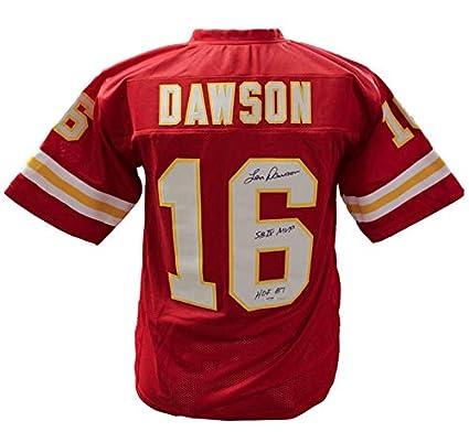 666ecea09 Len Dawson Kansas City Chiefs Autographed Signed Custom Jersey  HOF 87  and   SBIV