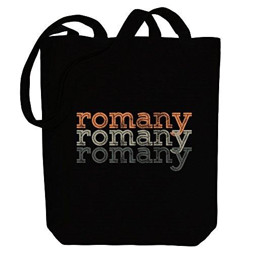 Idakoos repeat Canvas Tote retro Idakoos Bag Romany Romany Languages qtwtrYR