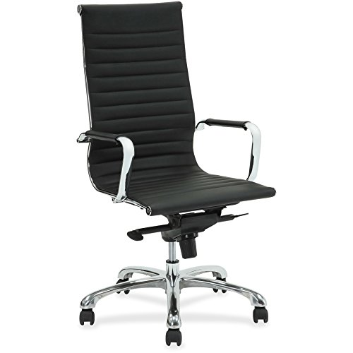 Lorell Leather (Lorell(R) Modern High-Back Leather Chair, Black/Chrome)