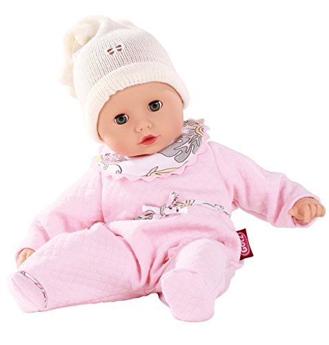 """Gotz Muffin 13"""" Bald Baby Doll with Pink PJ's and Blue Open/Close Eyes by"""