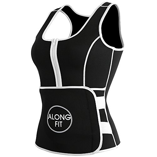 ALONG FIT Waist Trainer Waist Trimmer Belt Workout Sauna Slimming Vest For Weight Loss Adjustable With Zipper From hot sale