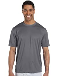 Men's Athletic Side Seamed Flatback Mesh T-Shirt