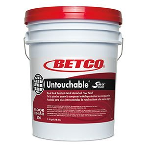 Floor Finish 5 Gallon Pail - Untouchable® with Srt Black Mark Resistant Metal Interlocked Floor Finish- 5 Gallon Pail