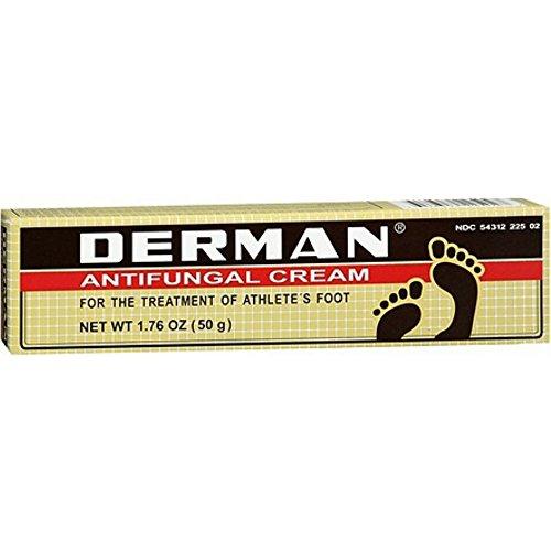 Derman 2 Tubes 50g Each - 100g Total Zinc Undecylente Antifungal Athlete's Foot & Antiseptic Cream
