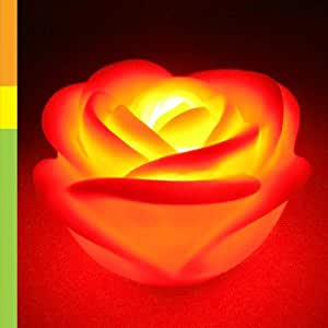 led red rose romantic love mood lamp night light wedding favor decoration home. Black Bedroom Furniture Sets. Home Design Ideas