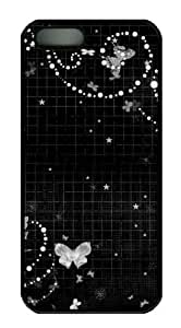 Black abstract N006 free iphone 5 cases PC Black for Apple iPhone 5/5S
