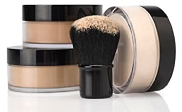 4pc FULL SIZE KIT w/KABUKI Mineral Makeup Set Bare Face Powder Matte Foundation