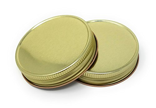 - Nika's Home Jelly or Mason Jar Lid - 12 pack - G70 CT (Gold)