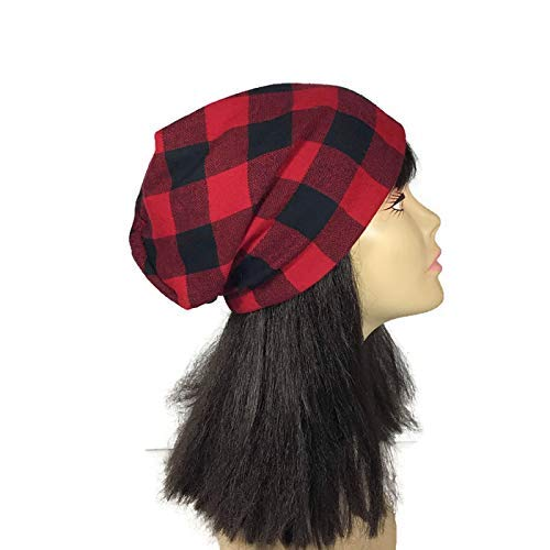 Buffalo Check Flannel Slouchy Hat Unisex Slouch Hats Unisex Beanies Slouch  Hats for Men Lumberjack Slouch Hat Black and Red Buffalo Check Hats CUSTOM  SIZES ... fe92d47a3fc7