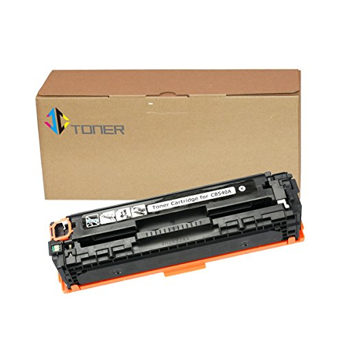 Black HP 125A CB540A Compatible Toner Cartridge for use with HP Color Laserjat CP1215 CP1518ni CP1515n CM1312nfi CM1312 MFP Series Printer (Series Cp1510)