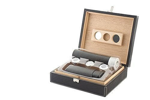 Orleans Group giftsets Leather Humidor Giftset, Brown by Orleans Group giftsets