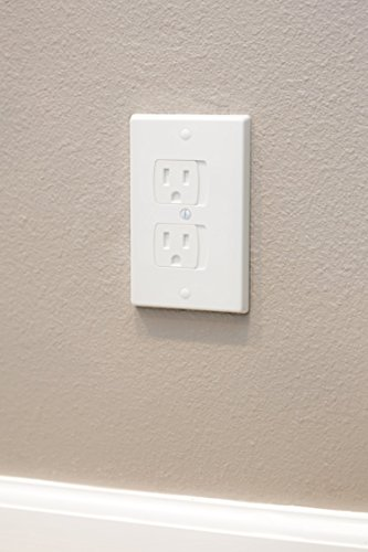 Self-Closing Electrical Outlet Covers for Baby Proofing | Automatic Sliding Electrical Safety Covers | Socket Plugs Alternate (4 Pack, White) by Secure Home by Jessa Leona (Image #4)