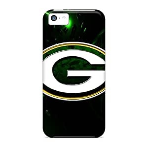 Protector Hard Phone Cover For Iphone 5c (EpR14169eXfn) Provide Private Custom Fashion Green Bay Packers Pattern