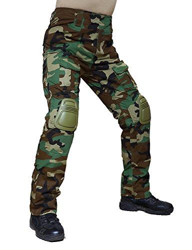 Trouser Uniform (TACVASEN Men's Outdoor Sports Tactical Military Assault Combat Rip-Stop Uniform Cargo Work Pants Trousers Jungle)