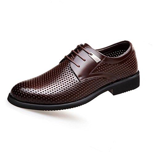 en WSK chaussures dentelle cuir costume sandales sangle Chaussures respirant hommes en brown pour hommes professionnel pour hommes Derby creux chaussures Chaussures rB1qfxBgwI