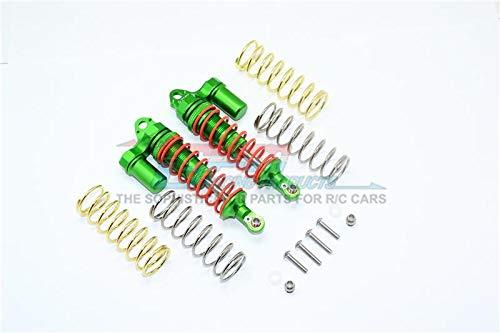 Traxxas Rustler 4X4 VXL (670764) Aluminum Front Adjustable LShape Piggy Back Shocks 87mm  1Pr Set Green