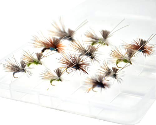Outdoor Planet 12 AC Caddis Caddisflies/Mayfly/Attractor Nymph/Dragonflies and Damselflies/Stonefly/Hopper/Salmonfly/Dry Flies for Trout Fly Fishing Flies Lure Assortment