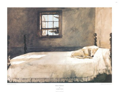 Master Bedroom Andrew Wyeth House Sleeping Dog Bed Poster Print