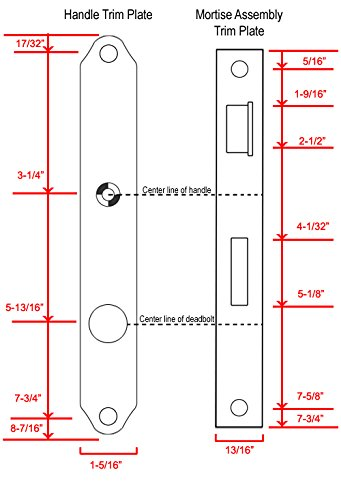 Stratford Mortise Storm Door Hardware Bright Brass-90819-036 by HSI (Image #1)