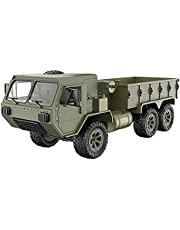 Hyoo 1/16 2.4G 6WD RC Car Proportional Control Army Military Truck Model Toys Kids Gift