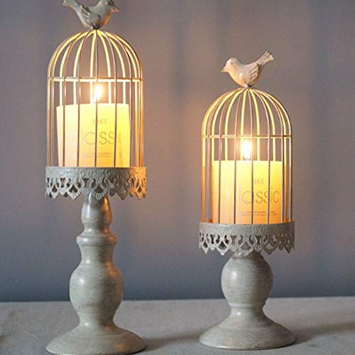 Glass Bell - Metal Hollow Candle Holder Stand Tealight Candlestick Lantern Wedding Classical Birdcage Home Decor - Fireplace Turquoise Dining India Gold Hurricane Tapered Floor Angel Quartz