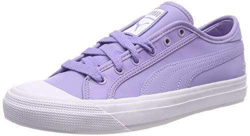 (Puma Unisex Adults' Capri Leather Low-Top Sneakers, Purple (Sweet Lavender White), 8.5 UK)