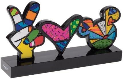 Romero Britto Disney Peace Love Mickey Plaque