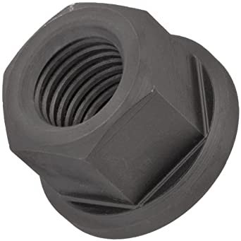 Carbon Steel Hex Nut, Black Oxide Finish, Right Hand Threads, Class 6H M12 Threads, 17mm Height, Made in US