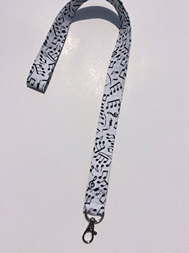 Music Notes Lanyard ID Badge Key Keeper Keychain Camera Strap (Badge Cotton)