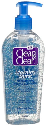(Clean & Clear Morning Burst Detoxifying Facial Cleanser with Oxygen-Infused Formula, 8-Ounce Pump Bottles (Pack of)
