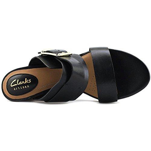 Clarks Donna Sandalo In Pelle Viola Ralene Open Toe Casual Con Cinturino Alla Caviglia In Pelle Nera