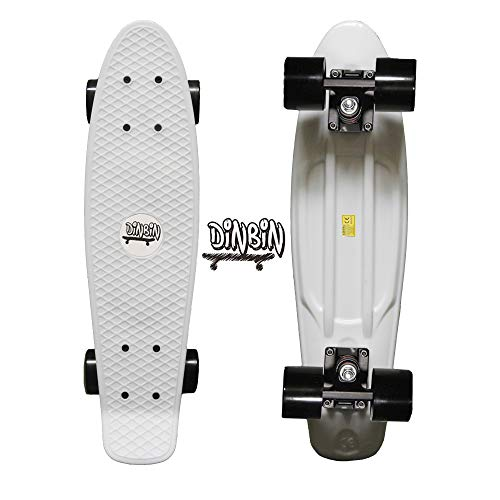 DINBIN Complete Highly Flexible Plastic Cruiser Board Mini 22 Inch Skateboards for Beginners or Professional with High Rebound PU Wheels (220 Pounds) (The Best Penny Board)