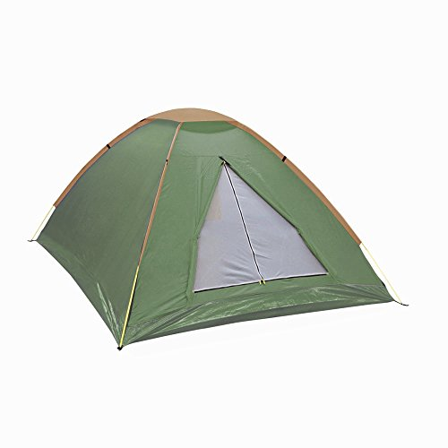 NTK Panda 3 Green Person 6.7 by 5.2 Foot Sport Camping Dome Tent 2 Season