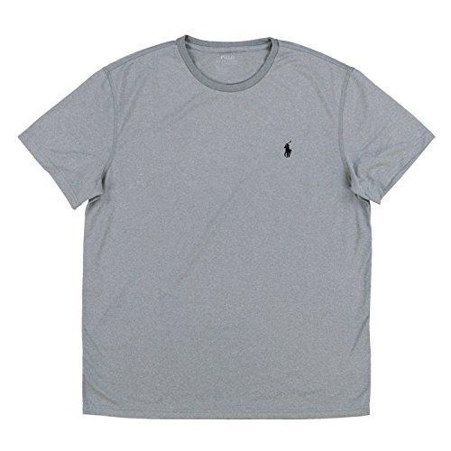 Polo Ralph Lauren Mens Crew Neck Performance T-Shirt (X-Large, Grey Heather)