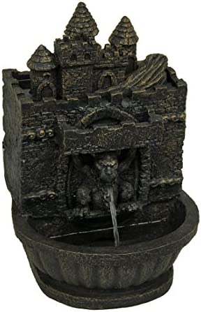 Zeckos Bronze Finished Gothic Gargoyle Table Fountain 11 1 2 Inches Tall