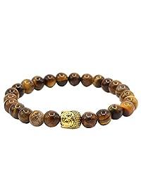 KSQS Buddha Tigers Eye Bracelet For Men Meditation Mala Buddhist prayer Zen Buddhism Reiki Energy Healing