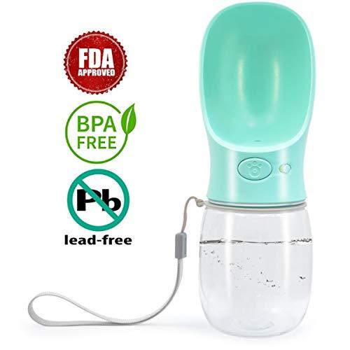 ANREONER Dog Water Bottle for Walking, 2.76