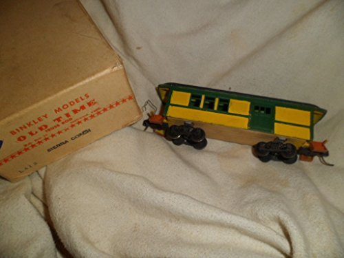Vintage Binkley Models Old Time Truss Rod Sierra Coach Train Car (Vintage Truss Rod)