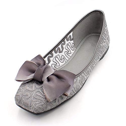 37 Sandalias Antideslizantes Zapatos de Zapatos de 38 EU Dulce Solo Maternidad Planos UE Trabajo Zapatos Arco Verano Grises de Calada Zapatos Moda cómodos FLYRCX fq0TRR