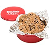 David's Cookies — Chocolate Chunk Fresh-Baked Cookie Gift Tin — Contains 12 Fresh Cookies — OU-D Certified Kosher Product — Fresh Homemade Cookies — No Added Preservatives — All-Natural Cookies — 1 lb