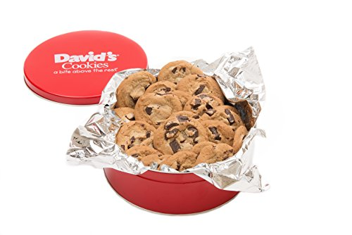 David's Cookies Chocolate Chunk Fresh Baked Cookies 1 Lb. Gift Tin (Oatmeal Cookie Gift Baskets)
