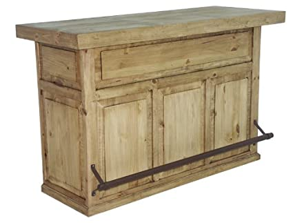 Amazon.com: Honey Rustic Home Bar: Kitchen & Dining