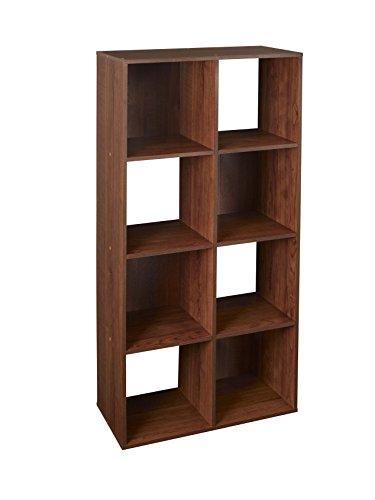 ClosetMaid 4106 Cubeicals Organizer, 8-Cube, Dark Cherry - Cherry Wood Storage