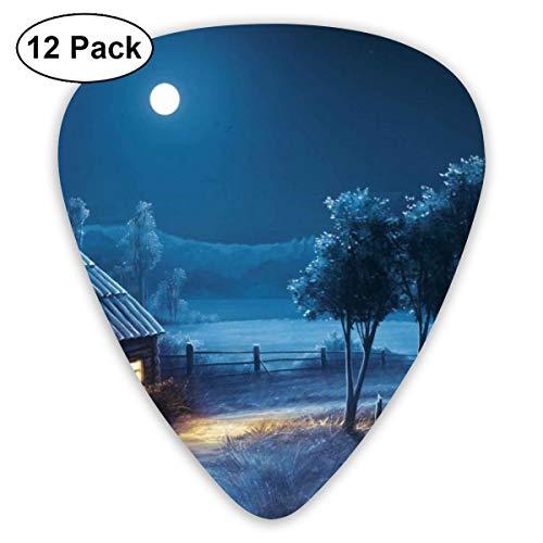 (Quiet Mountain Village Suitable for Electric Guitars, Acoustic Guitars, Guitar Selection 12 Pieces.)