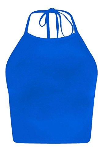 FZK FASHION - Camiseta sin mangas - para mujer azul real