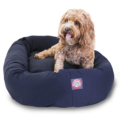 32 inch Blue Bagel Dog Bed By Majestic Pet Products