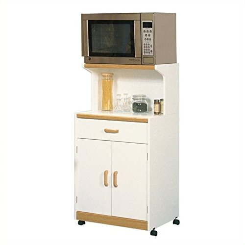 Sauder 403469 Universal Oven Cart, L: 24.88'' x W: 19.76'' x H: 48.54'', Soft White finish by Sauder
